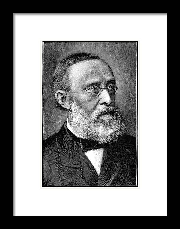 Rudolf Virchow Framed Print featuring the photograph Rudolf Virchow, German Pathologist by