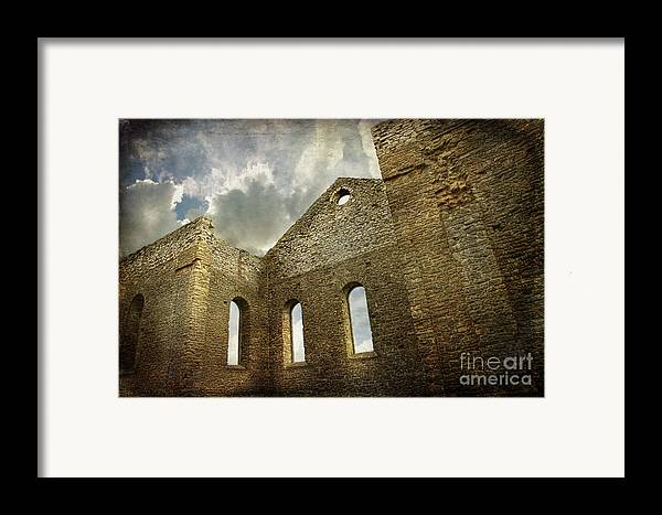 Architecture Framed Print featuring the photograph Ruins Of A Church In Ontario by Sandra Cunningham