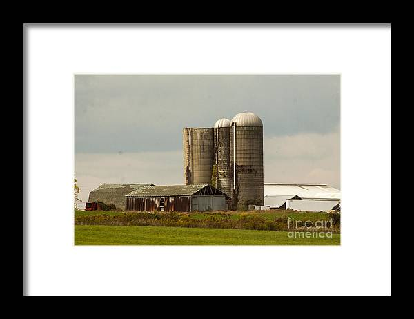 Farm Framed Print featuring the photograph Rural Country Farm by Darleen Stry