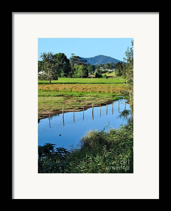 Photography Framed Print featuring the photograph Rural Landscape After Rain by Kaye Menner