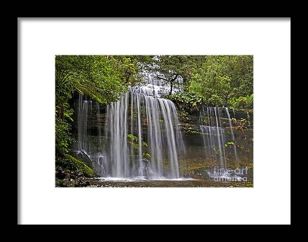 Russell Framed Print featuring the photograph Russell Falls by Raoul Madden