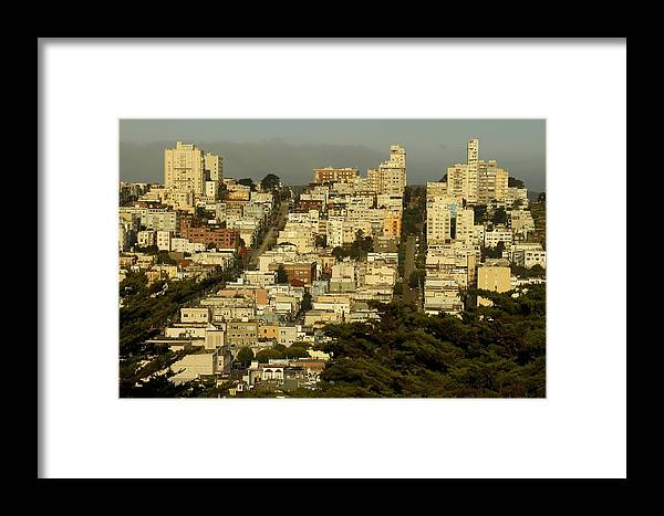 Russian Hill Framed Print featuring the photograph Russian Hill by PMG Images