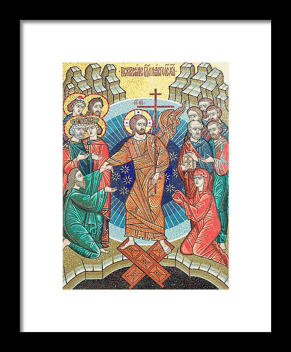 Russian Framed Print featuring the photograph Russian Mosaic Icon by Igor Sinitsyn