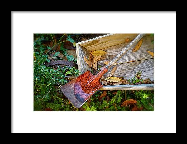 Framed Print featuring the photograph Rusted Shovel by Lori Leigh