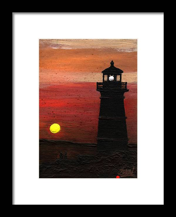 Impressionist Framed Print featuring the painting Rustic Sky by Bill Brown