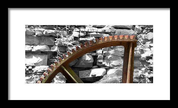 Guy Whiteley Photography Framed Print featuring the photograph Rusty Cog by Guy Whiteley