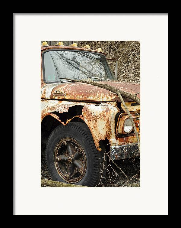 Ford Framed Print featuring the photograph Rusty Ford by Luke Moore