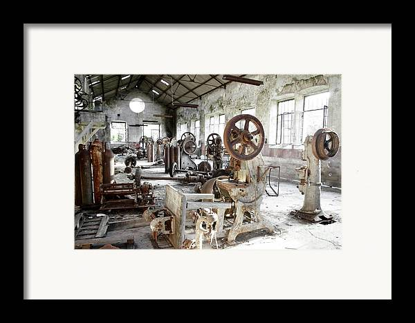 Abandoned Framed Print featuring the photograph Rusty Machinery by Carlos Caetano