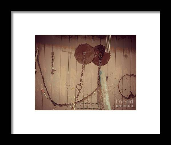 Saw Framed Print featuring the photograph Rusty Saw Blades by Christy Beal