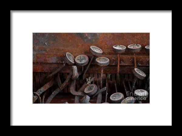 New Mexico Framed Print featuring the photograph Rusty Typewriter by Ashley M Conger