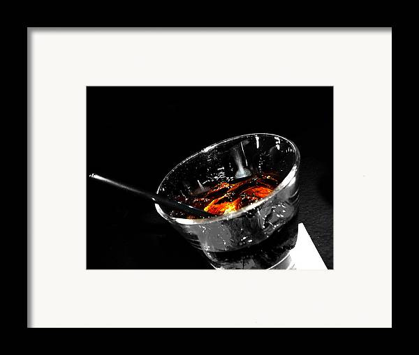 Elm Framed Print featuring the photograph Rye And Coke Please by Jerry Cordeiro