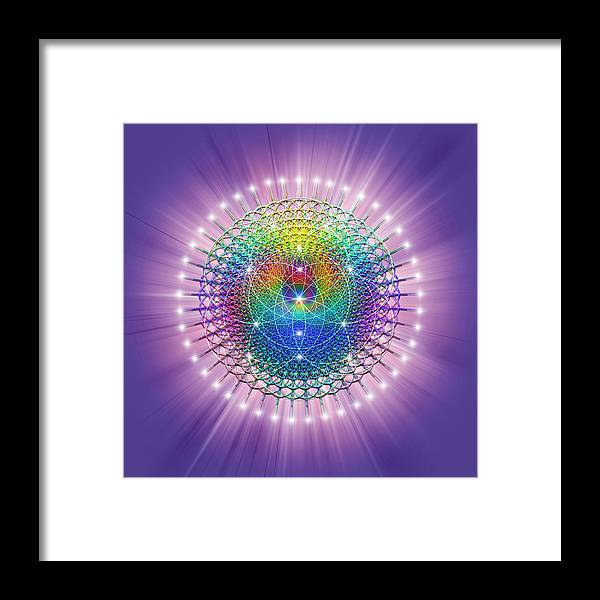 Endre Framed Print featuring the digital art Sacred Geometry 114 by Endre Balogh