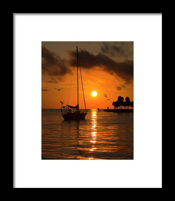 Sunrise Framed Print featuring the photograph Safe Harbor by Allen Dulaney