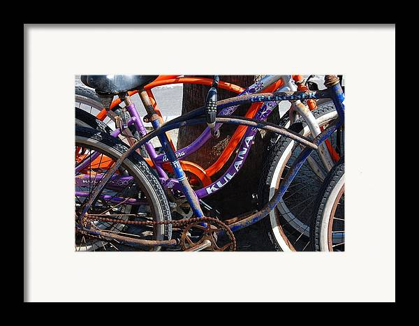 Bike Framed Print featuring the photograph Saggy Chain by Jame Hayes