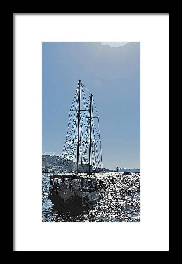 Turkey Framed Print featuring the photograph Saiing To Sultanahamet by Ian MacDonald