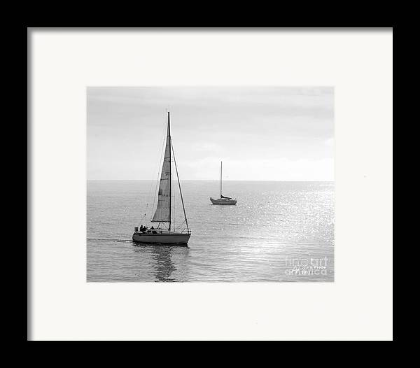 Sailing Framed Print featuring the photograph Sailing In Calm Waters by Artist and Photographer Laura Wrede