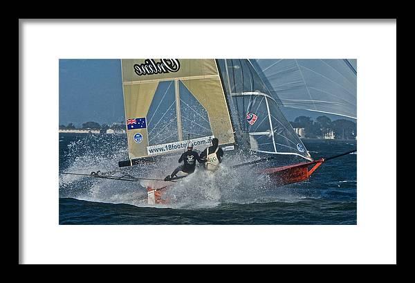 San Francisco Framed Print featuring the photograph Sailing Regatta by Steven Lapkin