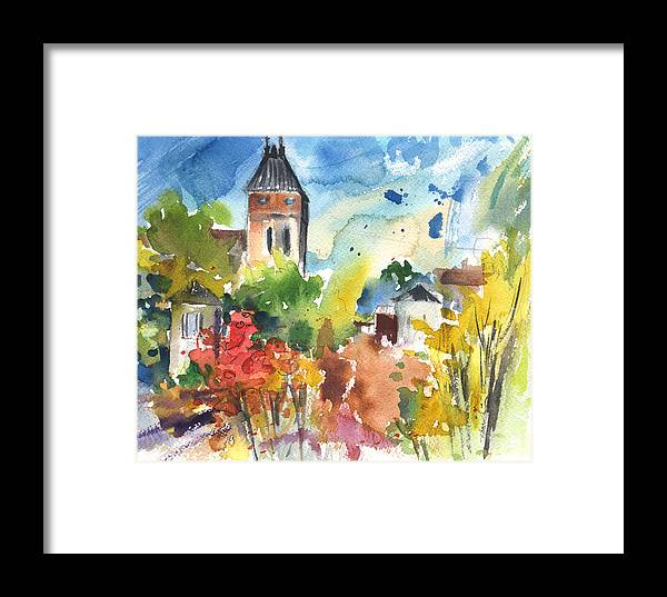 Travel Framed Print featuring the painting Saint Bertrand De Comminges 05 by Miki De Goodaboom