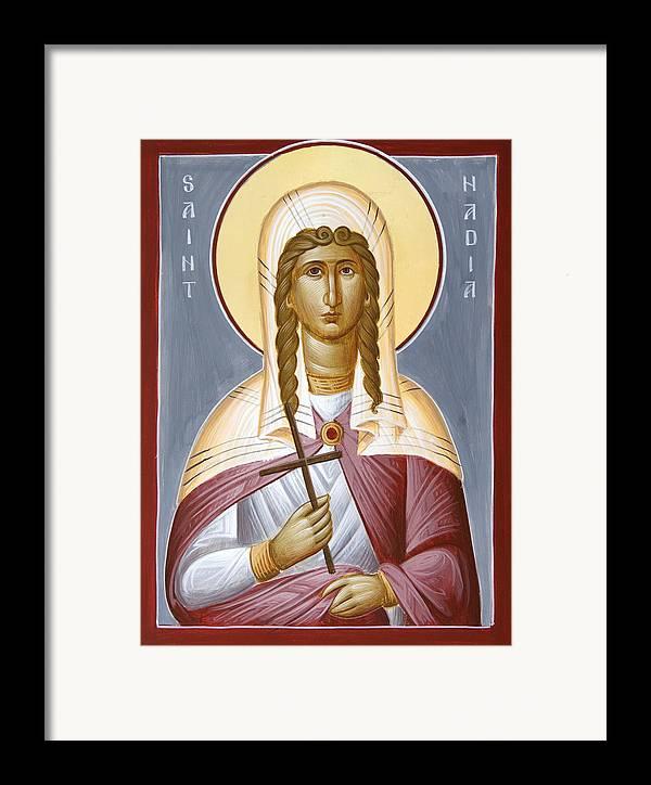 Saint Nadia Framed Print featuring the painting Saint Nadia - Hope by Julia Bridget Hayes