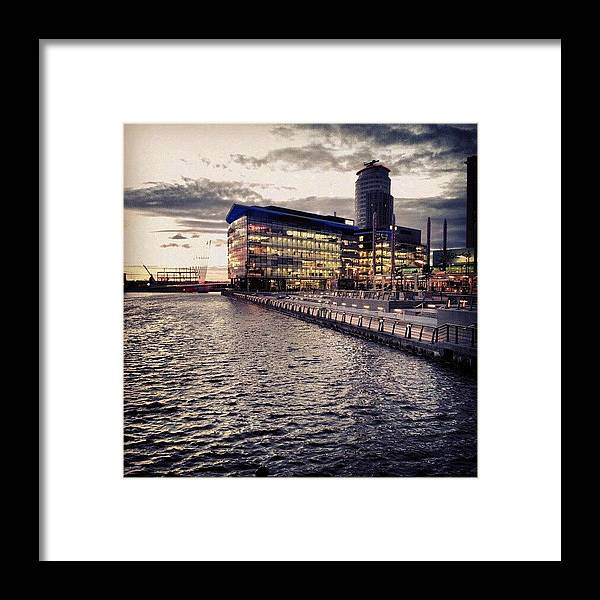 Salford Framed Print featuring the photograph #salfordquyes #salford #buildings #bbc by Abdelrahman Alawwad