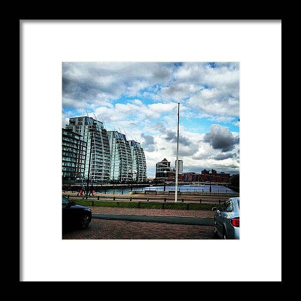 Salford Framed Print featuring the photograph #salfordquyes #salford #buildings #sky by Abdelrahman Alawwad