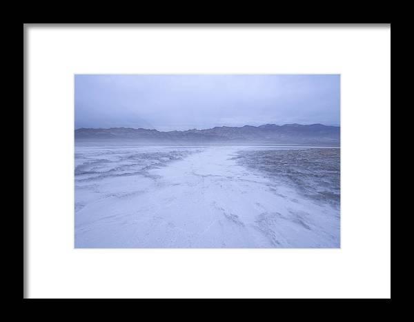 Photography Framed Print featuring the photograph Salt Flats Appear Blue When Shot by Phil Schermeister