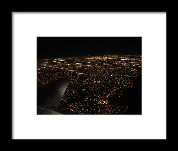 Salt Lake City Framed Print featuring the photograph Salt Lake City At Night by Phyllis Britton