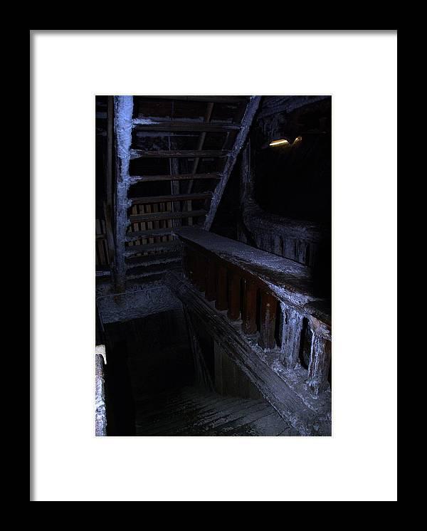 Salt Mine Framed Print featuring the photograph Salt Mine Entry by Amalia Suruceanu