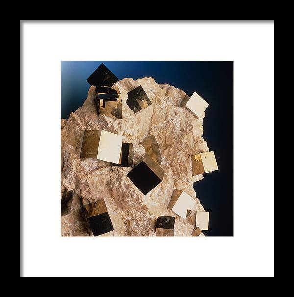 Pyrite Framed Print featuring the photograph Sample Of Pyrite by Pasieka