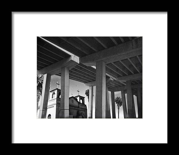 Architecture Framed Print featuring the photograph San Diego Freeway by Larry Butterworth