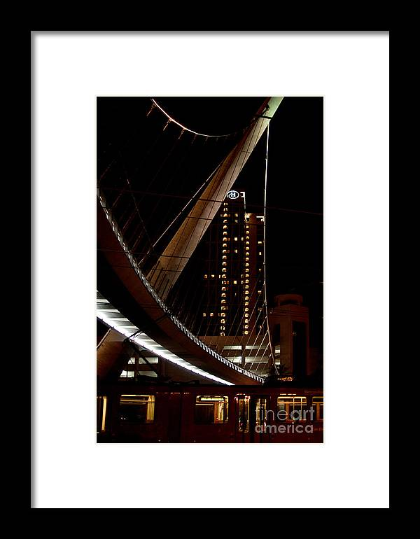 California Framed Print featuring the digital art San Diego Lights At Night by Carol Ailles