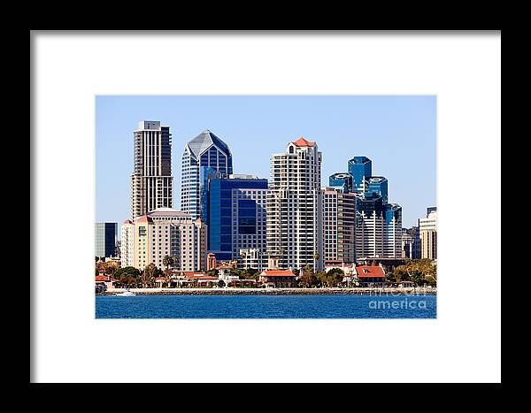 2012 Framed Print featuring the photograph San Diego Skyline Photo by Paul Velgos