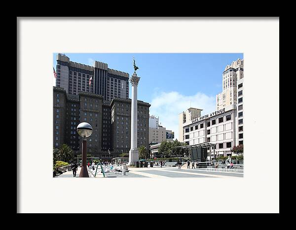 San Francisco Framed Print featuring the photograph San Francisco - Union Square - 5d17933 by Wingsdomain Art and Photography