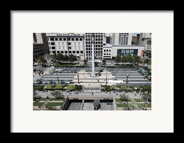San Francisco Framed Print featuring the photograph San Francisco - Union Square - 5d17942 by Wingsdomain Art and Photography