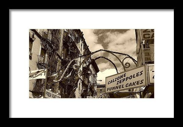 San Gennaro Framed Print featuring the photograph San Gennaro by Catie Canetti