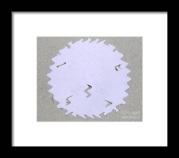 Sand Dollar Framed Print featuring the photograph Sand Dollar Wiggle by Monica Poole