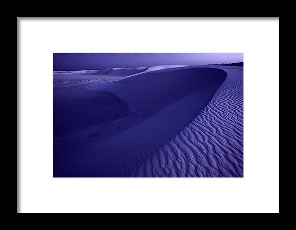 sand Framed Print featuring the photograph Sand Dunes. These Dunes Form When Solid by Michael Nichols