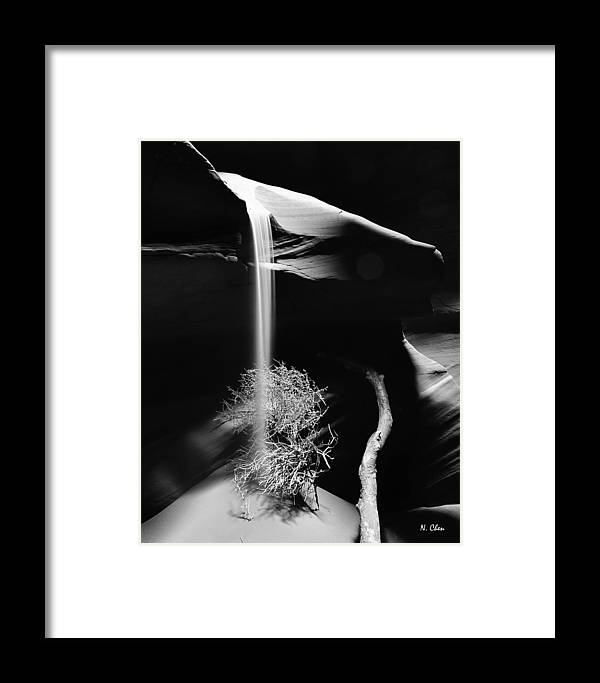 Landscape Framed Print featuring the photograph Sand Fall by Nian Chen