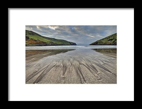 00479597 Framed Print featuring the photograph Sand Patterns At Dawn Otanerito Beach by Colin Monteath