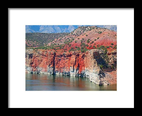 Wyoming Framed Print featuring the photograph Sandstone And The Sea by Carol Bruno