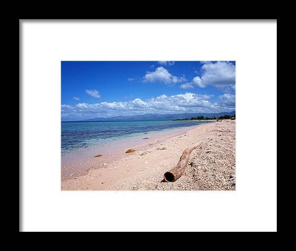 Caribbean Framed Print featuring the photograph Sandy Beach by Philip G