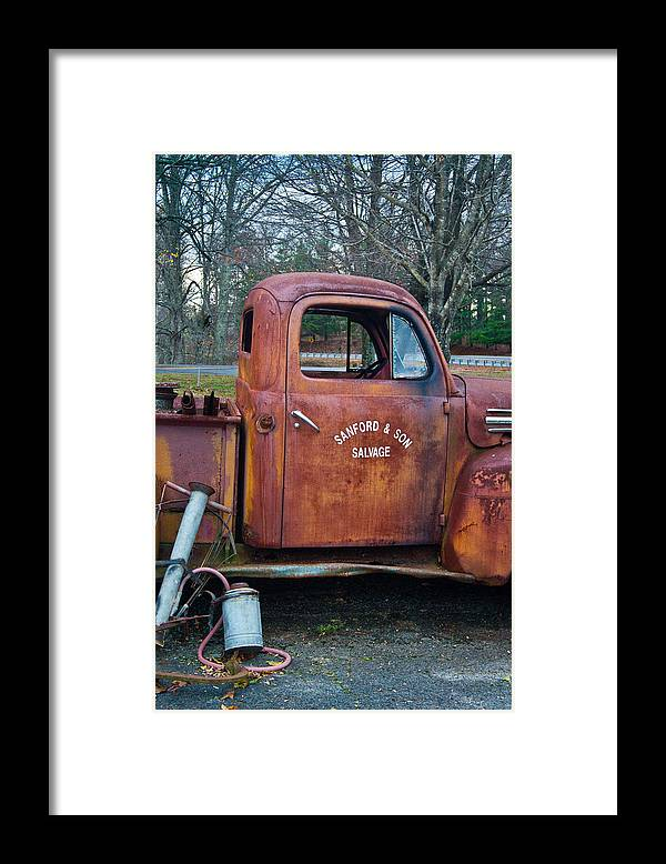 Sanford Framed Print featuring the photograph Sanford and Son Salvage 2 by Douglas Barnett