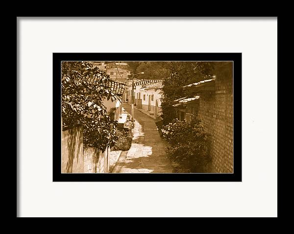 Street Framed Print featuring the photograph Santa Fe No I by Axko Color de paraiso