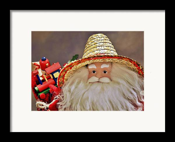 Santa Claus Framed Print featuring the photograph Santa Is A Gardener by Christine Till