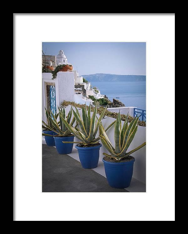 Greece Framed Print featuring the photograph Santorini Entrance by Scott Massey