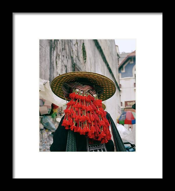 Color Framed Print featuring the photograph Sapa Fashion by Shaun Higson