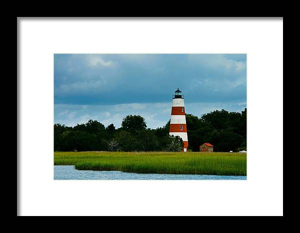 Lighthouse Framed Print featuring the photograph Sapelo Is. Lighthouse by Michael Ray