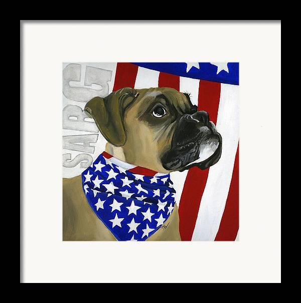 Patriotic Framed Print featuring the painting Sarg by Debbie Brown