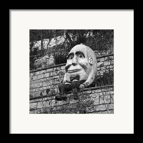 Humpty Dumpty Framed Print featuring the photograph Sat On A Wall by David Waldo
