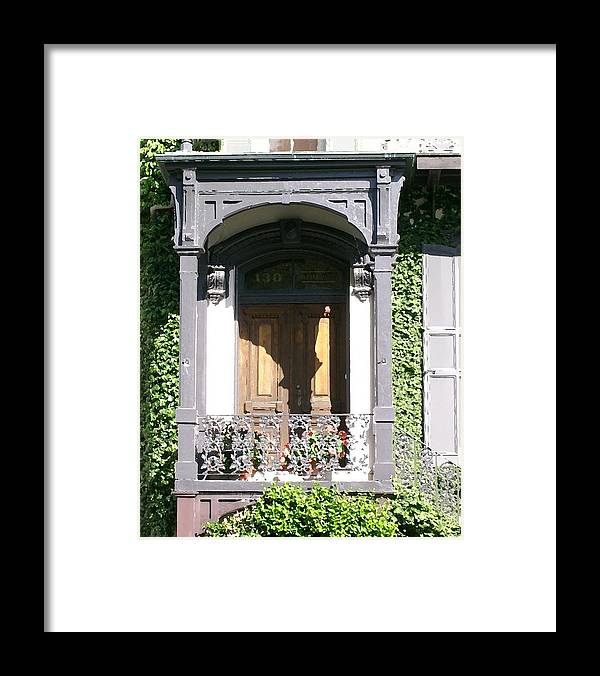Wrought Iron Framed Print featuring the digital art Savannah Doorway 1 by Lin Grosvenor